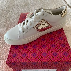 Tory Burch Carter Lace Up Sneaker, Calf Leather